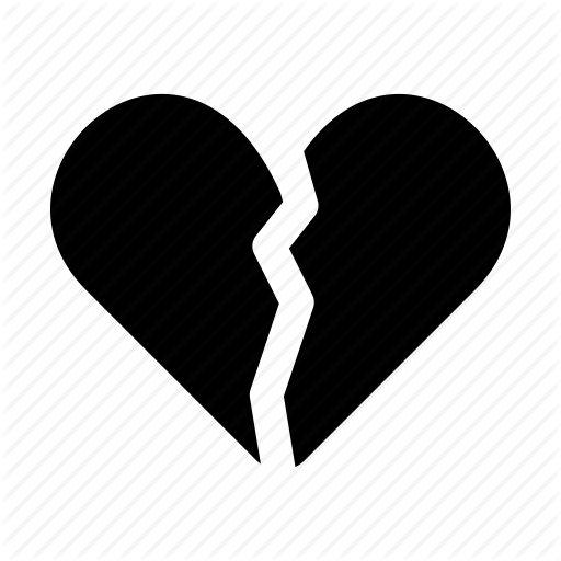 Broken, Broken Heart, Heart, Love, Romance, Romantic, Valentine Icon