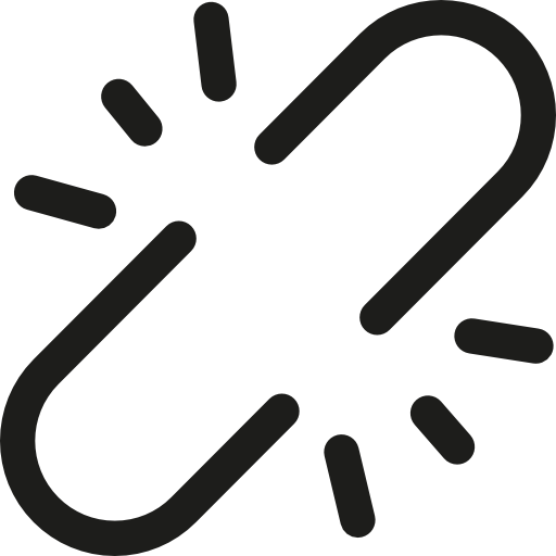Chain, Tools And Utensils, Linked, Interface, Unlink, Broken Icon