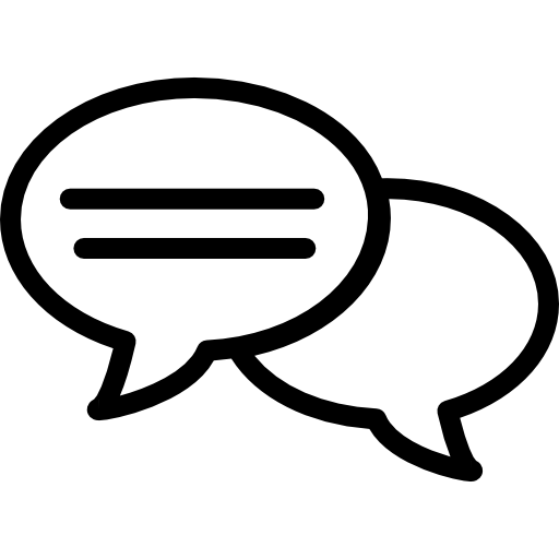 Speech Bubble Outlines With Dialogue Lines Icons Free Download