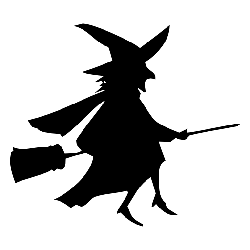 Witch Riding A Broom Icon Free Icons Download
