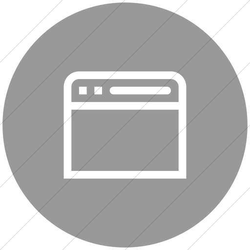 Flat Circle White On Light Gray Broccolidry Browser Icon