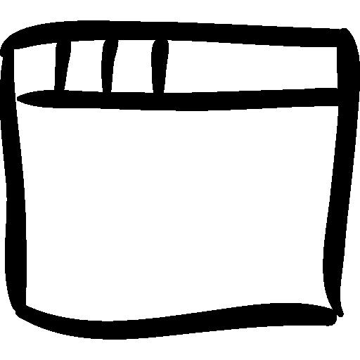 Browser Window Sketch Icon Social Media Hand Drawn Freepik