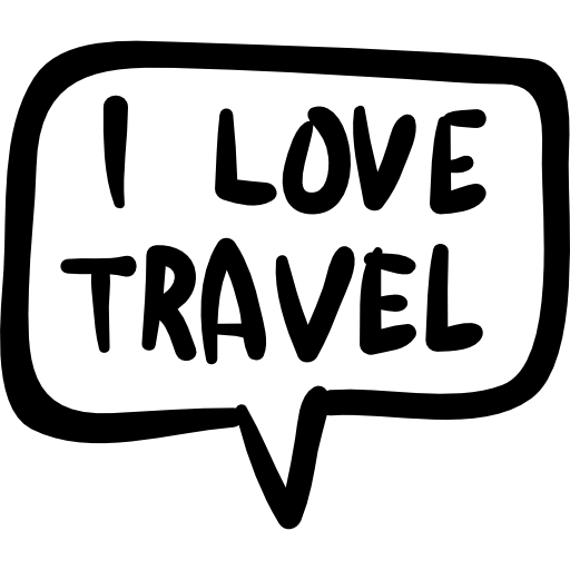 I Love Travel In Handmade Speech Bubble Icons Free Download