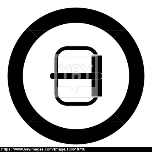 Buckle Icon Black Color In Circle Vector