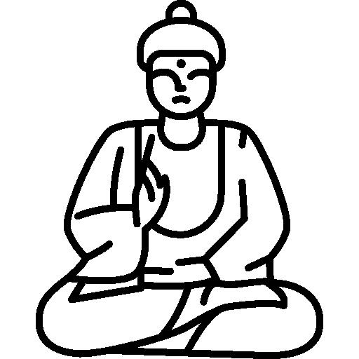Sitting Buddha Icons Free Download