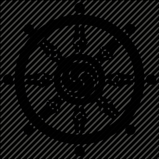 Buddha, Buddhism, Dharma, Teachings, Wheel Icon