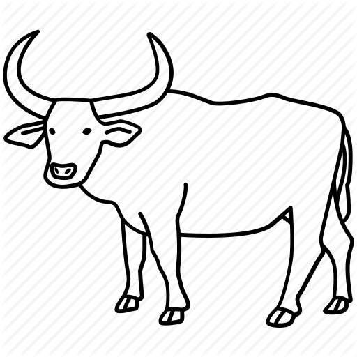 Bull, Cattle, Ox, Oxen, Rodeo, Water, Water Buffalo Icon