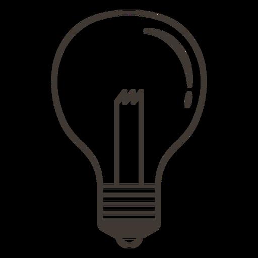 Classic Light Bulb Stroke Icon