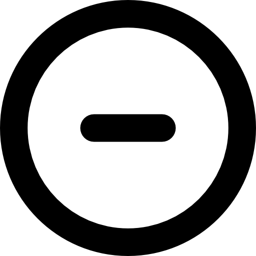 Minus Circular Button Icons Free Download