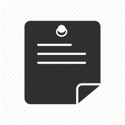 Announcement, Bulletin, List, Post It Icon