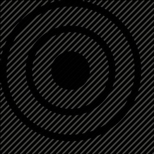 Bullseye, Circles, Cluster, Map, Target Icon