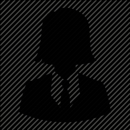 Avatar, Business, Businesswoman, Haircut, Silhouette, User, Woman Icon