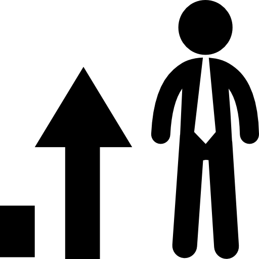 Business Man And Stats Graphic