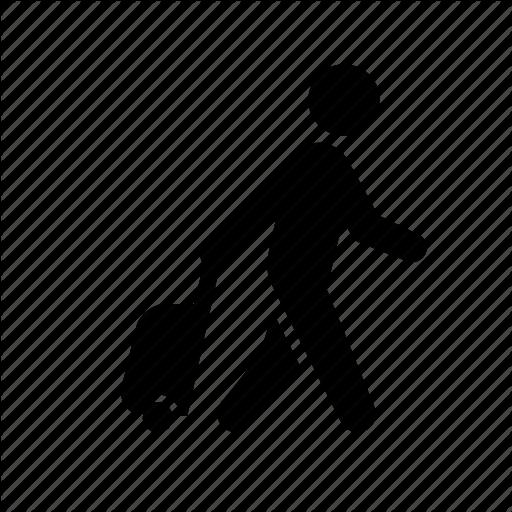 Business Travel, Luggage, Man, Stick Figure, Taveler, Tourist