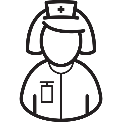 Nurse Bust Png Icon