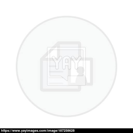Office Paper White Button Icon Vector