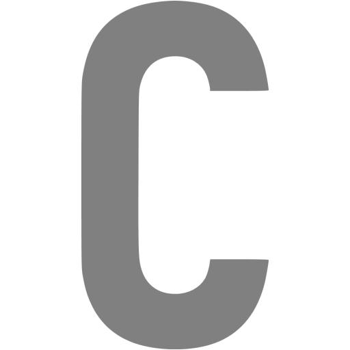 Gray Letter C Icon