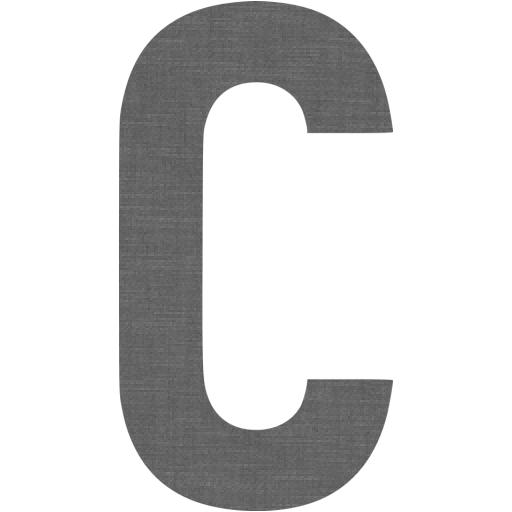 Grey Wall Letter C Icon