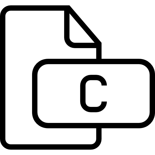 C Document Outlined Interface Symbol Of Stroke Icons Free