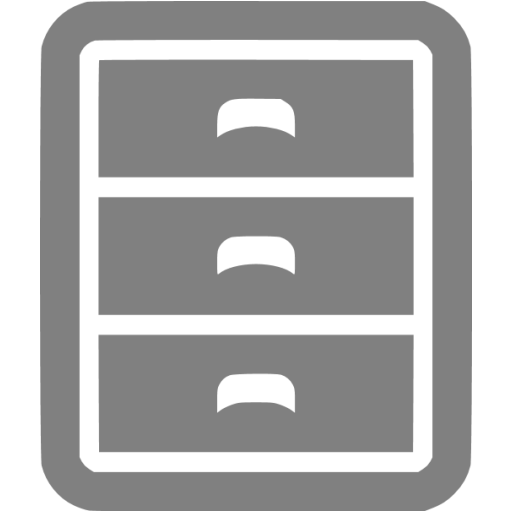 Gray Filing Cabinet Icon