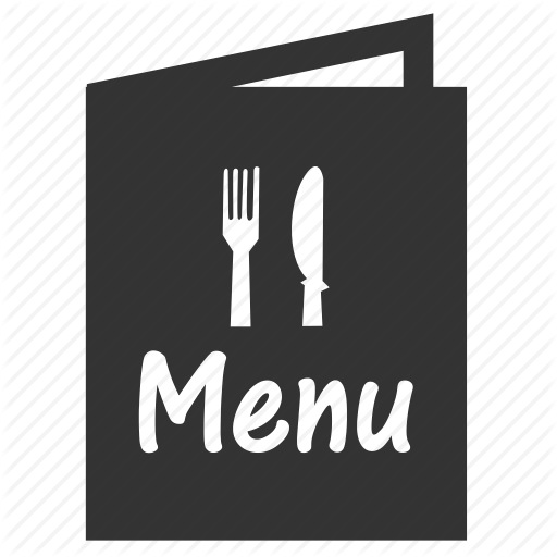 Dinner Menu Icon Writing Is Easy