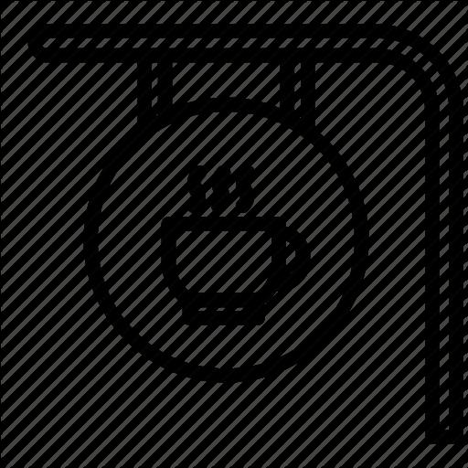 Cafe, Cafeteria, Coffee, Coffee Bar, Coffee Bar Sign, Coffee Shop Icon