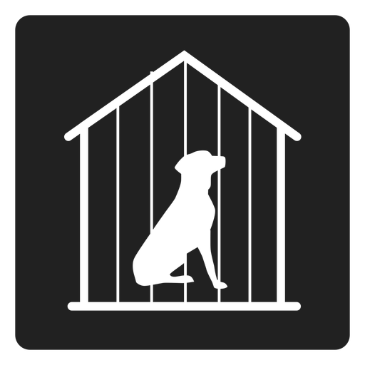 Dog Cage Square Icons