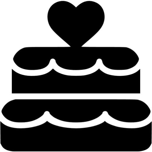 Black Wedding Cake Icon