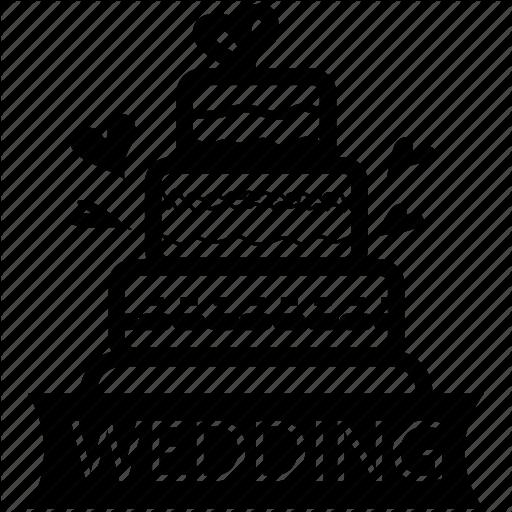 Cake, Food, Marriage, Sweet, Valentine, Wedding Icon