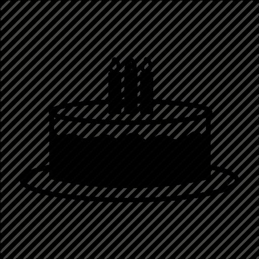 Birthday, Cake, Candle, Celebrating, Party, Present, Tart Icon