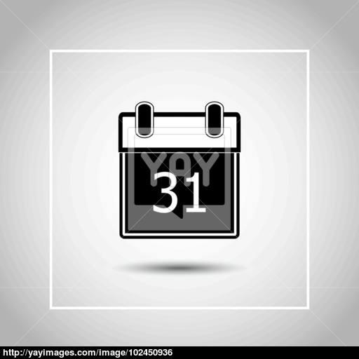 Calendar Flat Icon Calendar Date Vector