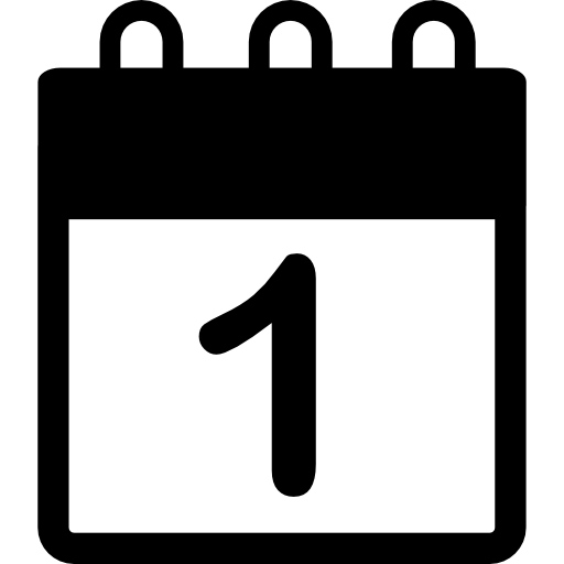 Calendar With Date Number Icons Free Download