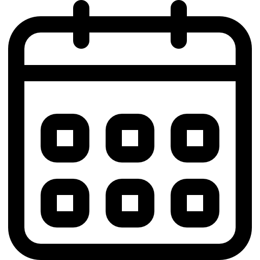 Weekly Calendar Outline Event Interface Symbol
