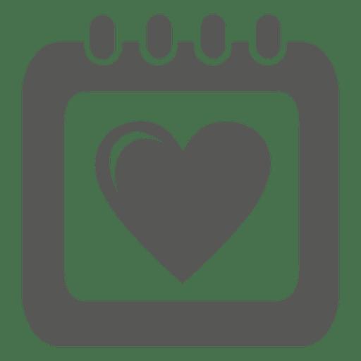 Heart Table Calendar Icon