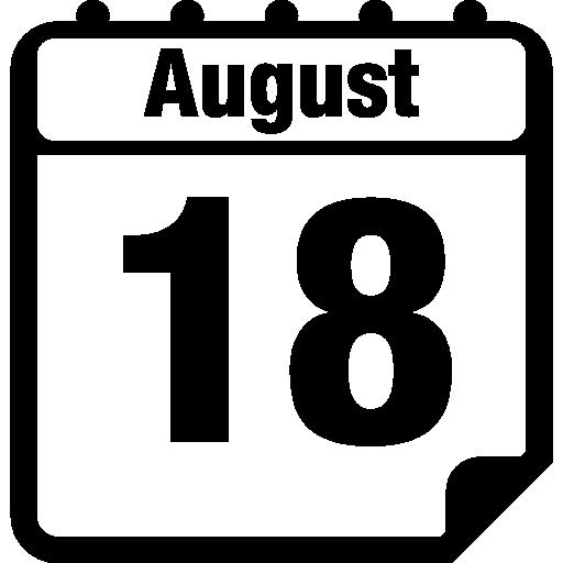 August Daily Calendar