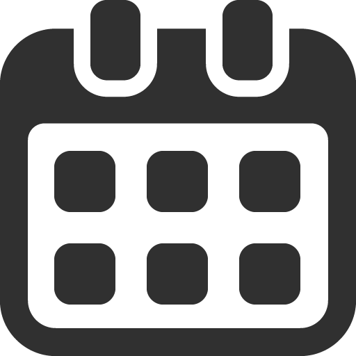 Calendar Icon Mono Business Iconset Custom Icon Design