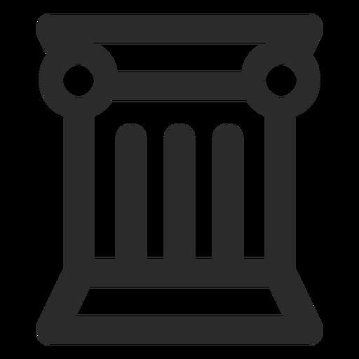 Greek Column Stroke Icon