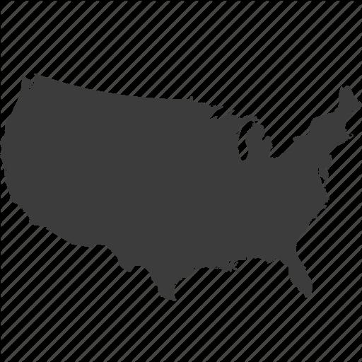 Usa Map Icons Noun Project Logo Image