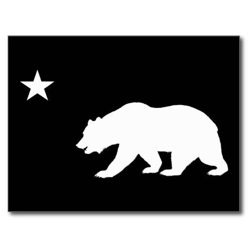California Bear Postcard Graff Art