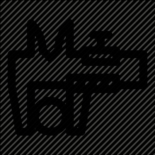 Caliper, Measure, Ruler, Tool, Vernier, Vernier Scale Icon