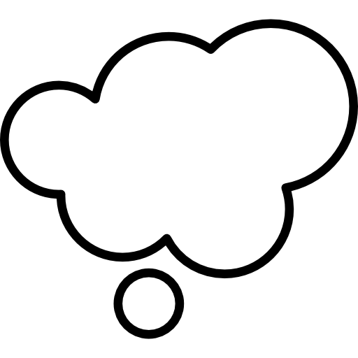 Dreaming Cloud Shape Outline Icons Free Download