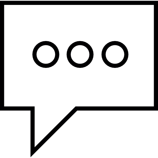Rectangular Bubble Of Chat With Three Dots, Ios Interface Symbol