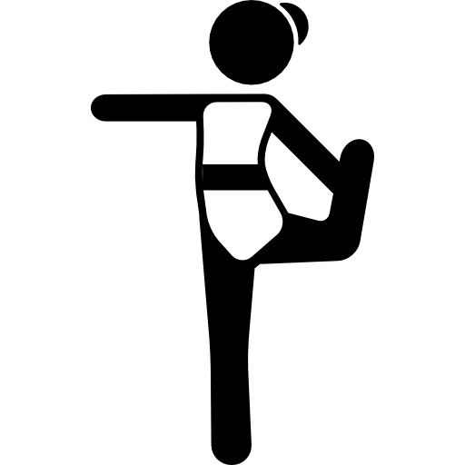 Girl Stretching Arm And Bending Leg Icons Free Download