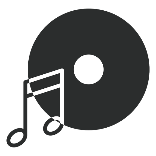 Music Note Disc Flat Icon