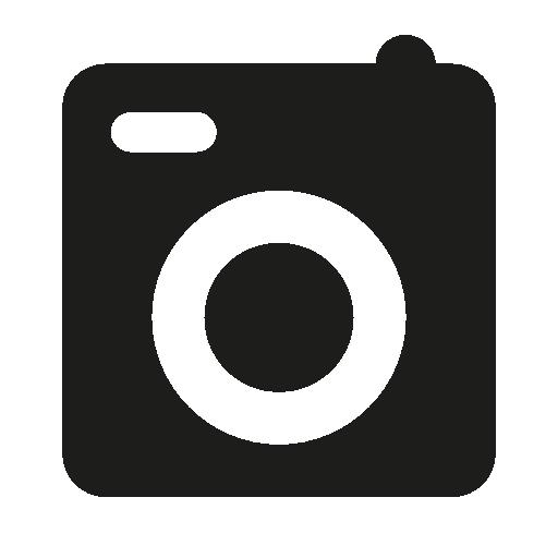 Photo Camera Of Square Shape Free Vector Icons Designed