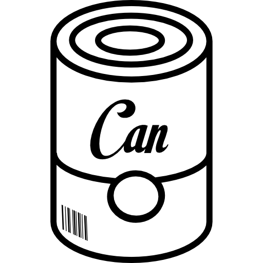 Can Of Food With Barcode Icons Free Download