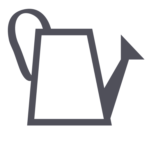 Flowers, Gardening, Watering Can Icon