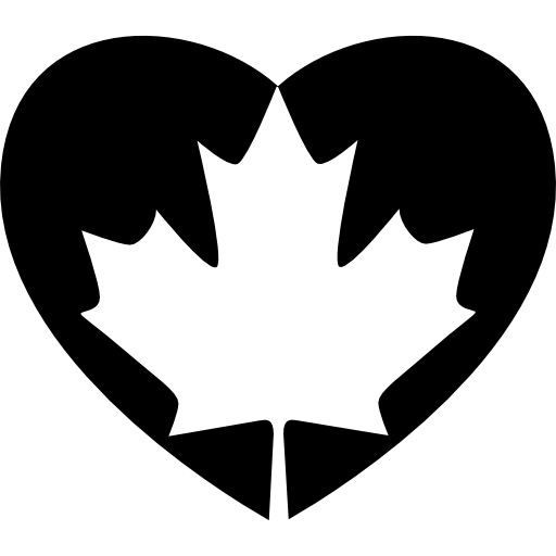 Heart Flag Of Canada Icons Free Download