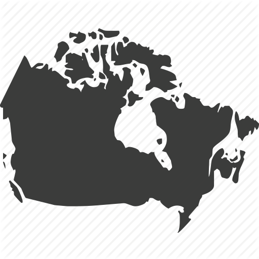 Canada, Countries, Country, Location, Map, North America Icon