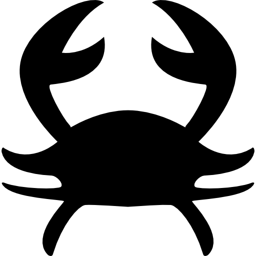 Cancer Astrological Sign Of Crab Silhouette Icons Free Download